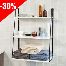 SoBuy® Wall Shelves,Bathroom Storage Racks, Kitchen Shelves, 3 Tiers,FRG176-W,UK