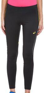 Asics Winter Womens Running Tights Black Thermal Warmth 180 Visibility Run Tight