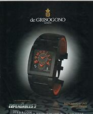 ▬► PUBLICITE ADVERTISING AD Montre watch De GRISOGONO Instrumento n°uno