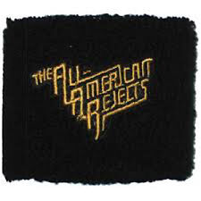 THE ALL AMERICAN REJECTS Gold Logo Wristband Sweatband NEW OFFICIAL MERCHANDISE