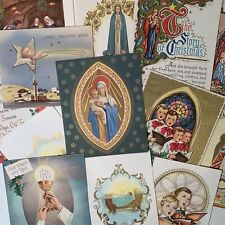Vintage Lot Of 18 Unused Religious Beautiful Christmas Greeting Cards L