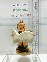 Hummel Latest News #184 Round Base TMK-3 W Germany Boy Reading Newspaper