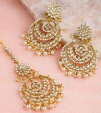 Latest Bollywood South Indian Earring Maang Tikli Set Partywear Wedding Jeweller