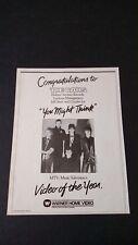 "The Cars ""You Might Think"" (1984) Rare Original Print Promo Poster Ad"