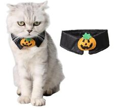 Halloween Cat Dog Pet Black Pumpkin Bow Tie X'mas Festive Dress Up Costume