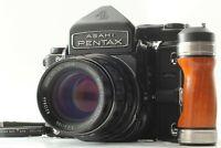 [MINT] Pentax 6x7 67 TTL Mirror Up + SMC T 105mm f/2.4 Lens + Grip from JAPAN