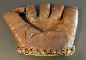 Vintage Wilson 1940s Split Finger Baseball Glove #655 - Enos Slaughter