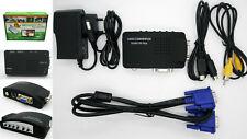 Escalador Adaptador Conversor Switch AV Video RCA a VGA TV a PC y Portatil 2777