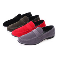 Men's Suede Slip on Boat Shoes Loafers Driving Walking Moccasins Formal Casua
