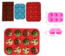 Silicona Mollete Bandeja Molde Para Pan Cupcake Molde TAZAS ANTIADHERENTES 6/8/12
