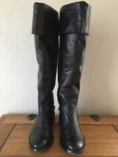Near New Quality Tony Bianco Soft Black Leather Boots 7.5 Over Knee