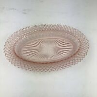 Anchor Hocking Miss America Depression Glass PINK OVAL PLATTER 10 1/2""