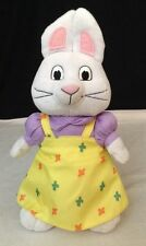 "Ty Beanie Babies Buddy Max & RUBY Bunny Rabbit Plush LG 10"" Stuffed Animal"