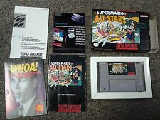 SUPER MARIO ALL STARS W/ BOX SNES SUPER NINTENDO Complete!!