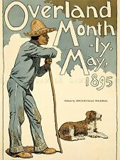 ADVERTISING MAGAZINE COVER OVERLAND MONTHLY HIKER DOG ART POSTER PRINT LV964