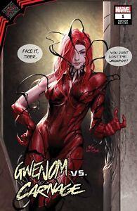 GWENOM VS CARNAGE 1 INHYUK LEE MARY JANE AMAZING SPIDER-MAN 678 VARIANT VENOM !!