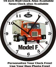 MACK TRUCK MODEL F WALL CLOCK-FREE USA SHIP!