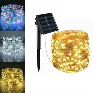 LED Solar String Lights Waterproof 5/10/20M Copper Wire Fairy Outdoor Garden UK