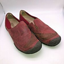 Keen Womens Size US 7.5 EU 38 Maroon Red Nubuck Slip On Loafers Shoes Flats
