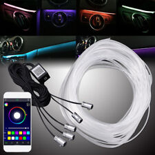 5x Car Interior Atmosphere Light 6M Neon Strips APP Bluetooth Controller RGB LED
