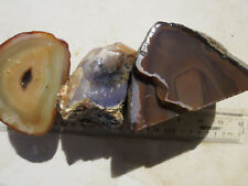 1172  PACKAGE OF AGATE ROUGH.  3# TOTAL, GREAT FOR CABS.  NICE CUTTING ROCK