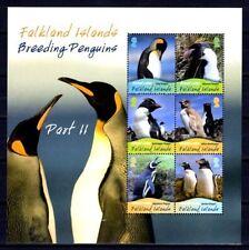Iles Falkland 2010 oiseaux pingouins bloc feuillet neuf ** 1er choix