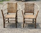 RARE!!! Old Hickory Hoop Chair (2) and Settee, Marked and Bruce Tagged