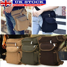 UK Men Canvas Cycling Bike Hip Bag Sport Fanny Pack Waist Thigh Drop Leg Bag HP