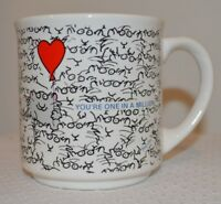 You're One in a Million Valentine's Day Sandra Boynton Coffee Cup Mug Cat Heart