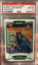 2008-09 Russell Westbrook Bowman Chrome Xfractor Refractor RC Rookie /299 PSA 10