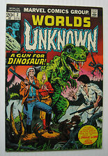 Worlds Unknown #2 (MCG 7/73) VF++ Dinosaur Cover/Nice!!!