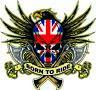 Born To Ride Sticker, Harley Davidson Style British Flag Motorcycle . Skull a28