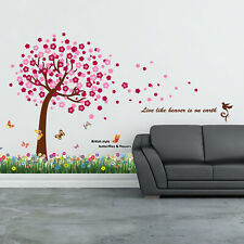 Walplus Wall Sticker Decal Wall Art Blossom Flower with Pink Blossom Tree Home