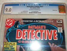 CGC 9.0 Detective Comics #477 Batman with rare DOUBLE COVER from June 1978