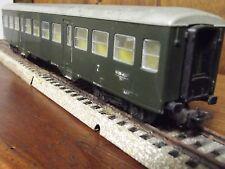 Kleinbahn H0 Vagone Carrozza Passeggeri Verde 2° classe 1960/70 vintage