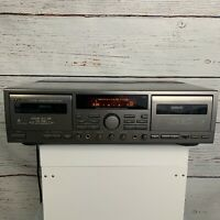 JVC Stereo Double Cassette Tape Deck Player Recorder TD-W709 Tested