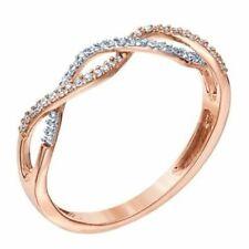 Round Diamond Infinity Wedding Band Ring Ladies New 10k Rose Gold Over 0.50ct