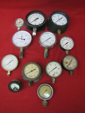 Vintage Lot Of Assorted Gauges Dials Steampunk Industrial Salvage Lot Of 12