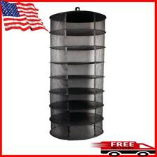HOT 8 Layer Food Dehydrator Rack Tray Hanging Solar Jerky Meat Beef Fruit Herb