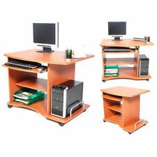 Smart Ciliegio Scrivania Pc Computer Porta Stampante e Tastiera Officio Casa