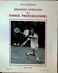 Tennis Program Rod Laver September 1963 Grandes Epreuves de Professional Tennis
