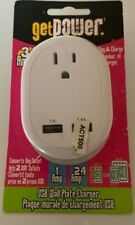 Get Power USB Wall Plate Charger 3.4 amp SAME DAY SHIPPING