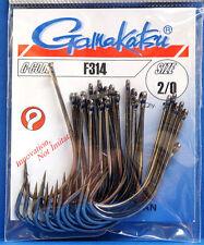 Gamakatsu F314 Größe #2/0 black nickel 25 Haken F314 #2/0
