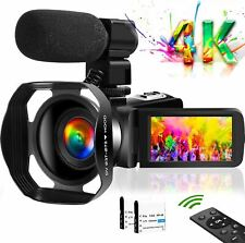 Video Camera 4K Camcorder Vlogging Camera for YouTube UHD 48M 30FPS Digital Zoom