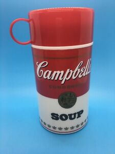 1998 Vintage Campbell's Soup Can-Tainer Insulated Hot Food Thermos Container