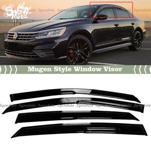 FITS 2012-2019 VW PASSAT 3D WAVY MUGEN STYLE WINDOW VISOR RAIN GUARD DEFLECTOR