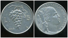 ITALIE ITALY  5 lire    1948  ( bis )