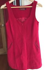 Dot & Herby Red Wool Mini Tunic Dress Size 8-10