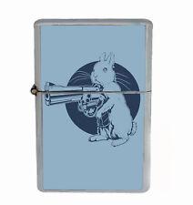 Gun Bunny Rs1 Flip Top Oil Lighter Wind Resistant With Case