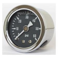 Marshall Öldruckmesser Öldruckanzeiger Carbon Face 60PSI für Harley - Davidson